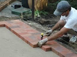 brick paver patio diy concrete patio