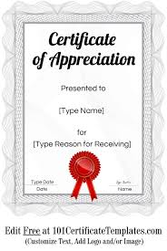 Free Appreciation Certificates Free Printable Certificate Of Appreciation Customize Online