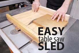 picture of easy table saw sled