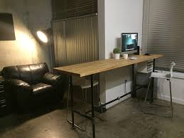 industrial style standing desk