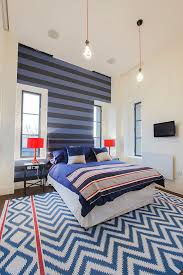 ... Snazzy Use Of Stripes In The Contemporary Bedroom In London [From: Joel  Antunes Photography
