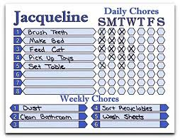 Chore Chart For Daily And Weekly Chores Personalize Name And Color Use Dry Erase To Write In Chores And Check Them Off