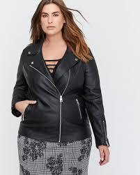 pleather biker jacket l l