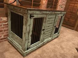 furniture kennels. handcrafted dog kennel and crate. custom kennel. wooden wire furniture kennels