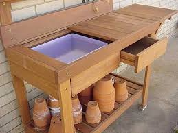 Free Potting Bench Plans With Sink  Easy DIY Idea Projects And Plans For A Potting Bench