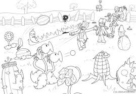 Small Picture plants vs zombies coloring pages zombies Coloring4free