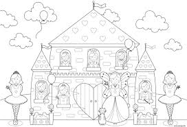 Coloriage Princesse Chateau L