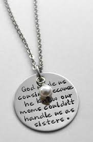 Cousin Necklace - God made us cousins - Cousin gift - Cousin birthday - Gift  for