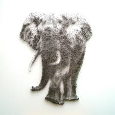 Artist Illustrates Realistic Portraits By Hammering Thousands Of Nails Into  A Wall. Elephant Art