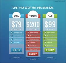 Pricing Table Templates Pricing Tables
