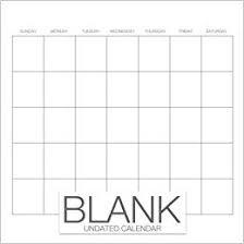 Blank Undated Calendar Undated Monthly Calendar Book 8 5 X