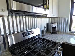 corrugated metal backsplash kitchen remodels