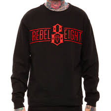 Свитшот черный мужской в стиле <b>Rebel8 Logo</b> Кофта, цена 395 ...
