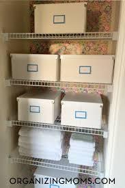Realistic Linen Closet Organization - Organizing Moms