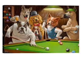 com eliteart dogs playing pool billiard artisan by cassius marcellus coolidge oil painting reion giclee wall art canvas prints posters
