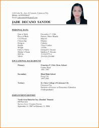 Resum Resum Sample Best Of 24 Applicant Resume Sample Filipino Resume 3