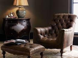 club chair and ottoman. Tufted Leather Club Chair And Ottoman U