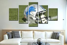 detroit lions wall art 5 piece lions helmet rugby canvas paintings it make your day detroit