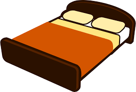 bed clipart. Plain Bed Brown Bed With Blanket With Clipart C