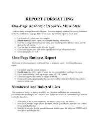 One Page Academic Reports Mla Style Bbrown Cs3