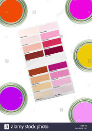 A Color Paint Chart Showing Modern Colors Stock Photo