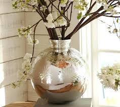 bubble bowl vase vases glass round big silver polished with large small 6 bubble bowl vase