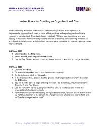 Organizational Chart With Description Creating Organizational Charts With Ms Word
