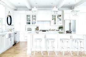white cottage kitchens. Cottage Bar Stools White Kitchen Island With French Backless Chairs Kitchens A