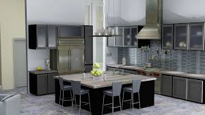 Modern Glass Kitchen Cabinets Kitchen Decor With Rustic Funiture Also Modern Glass Kitchen