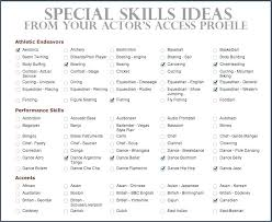 Actors Resume Interesting Actors Resume Examples Special Skills For Acting Of Resumes Headshot