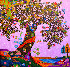 the subject is tree of life the artist is inspired by the style of secessionist artist gustav klimt