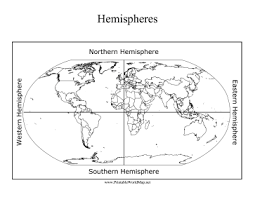 Western Hemisphere Maps Printable The Northern Eastern Southern And Western Hemispheres Are