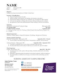 Sample Resume Certified Nursing Assistant Certified Nursing Assistant Objective For Resume Resume For Study 22