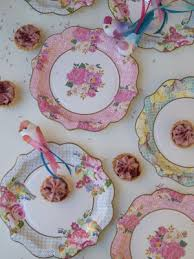 Pink Flower Paper Plates Party Tableware Paper Cups Plates Straws And Jelly Pots And Cases