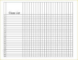 free printable roster template student class list template free roster interestor co