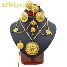 ethlyn clic big ethiopian jewelry hair sets gold color hair jewelry sets african jewelry ethiopian