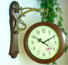 two sided wall clock french style wall clocks double sided wall clock nostalgic french wall clock two sided wall clock