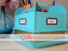 diy desk organizer tutorial. Contemporary Desk DIY Glitter Desktop Organizer Tutorial  Jazz Up Your Office This Would Be  Super Cute On Diy Desk N