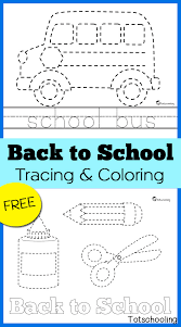 Best coloring pages printable, please share page link. Back To School Tracing Coloring Pages Totschooling Toddler Preschool Kindergarten Educational Printables