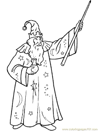 Small Picture Magic Wizard Witch Coloring Page 14 Coloring Page Free Fantasy