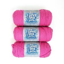 Details About I Love This Yarn By Hobby Lobby Hot Rose 350 3 Skein Lot