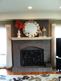 painted fireplace not white it looks good diy eendag painted fireplaces paint fireplace and fireplaces