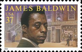 James Baldwin on stamp.