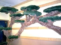 wall mounted cat tree hung