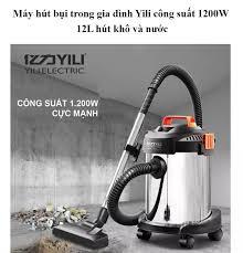 BUY 1 GET 1- NHẬN NGAY VOCHER GIẢM GIÁ] Máy hút bụi trong gia đình Yili 12L hút  nước và khô - Máy hút bụi công nghiệp 12L công suất 1200W