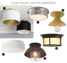 flush mount lighting fixtures under 100