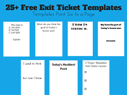 Exit Ticket Template Math = Love Free Exit Ticket Templates Exit Slips Pinterest 9
