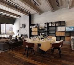 Dining Room Designs: Color Accent Ideas For Industrial Dining Room - Industrial  Decor
