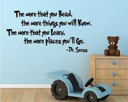 Dr Seuss The More That You Read You Know Quote Vinyl Wall Art Extraordinary Wall Sticker Quotes