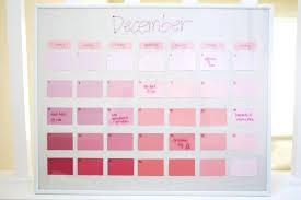 DIY Reusable Paint-Chip Calendar